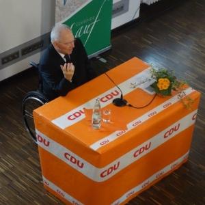 Dr. Wolfgang Schäuble gratuliert zu 70 Jahre CDU Lauf.