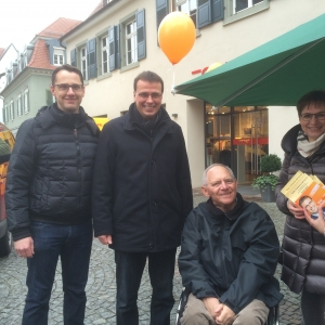 Wahlstand in Offenburg