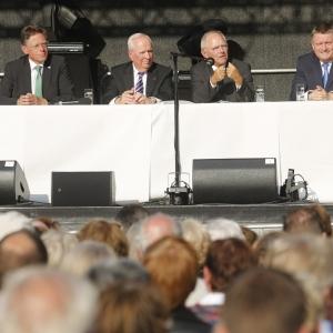 Rede auf dem Marktplatz in Neuss, September 2015